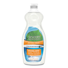 Seventh Generation® Natural Dishwashing Liquid, Fresh Lemon and Tea Tree, 22 oz Bottle, 12/Carton