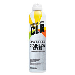 CLR® Spot-Free Stainless Steel Cleaner, Citrus, 12 oz Can, 6/Carton