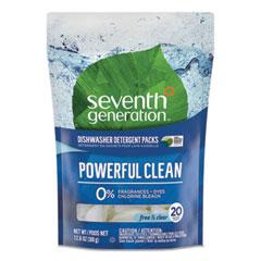 Seventh Generation® Natural Dishwasher Detergent Concentrated Packs, 20/Pack, 12 Packs/Carton