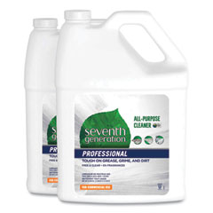 Seventh Generation® Professional All-Purpose Cleaner, Free and Clear, 1 gal Bottle, 2/Carton