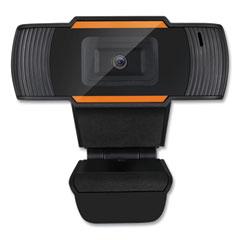 Adesso CyberTrack H2 480P Webcam with Microphone 300K, 1280 pixels x 720 pixels, 0.3 Mpixels, Black