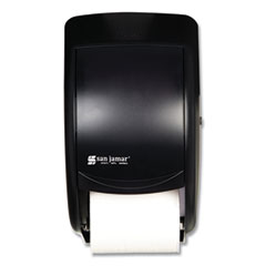 San Jamar® Duett Standard Bath Tissue Dispenser, 2 Roll, 7 1/2w x 7d x 12 3/4h, Black Pearl