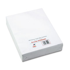 Premium Card Stock, 110 lbs., Letter, White, 250 Sheets/Box