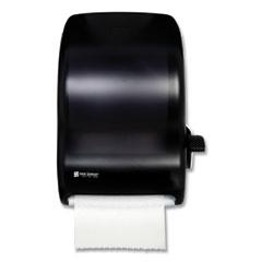San Jamar® Lever Roll Towel Dispenser, Classic, 12.94 x 9.25 x 16.5, Transparent Black Pearl