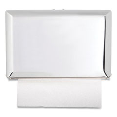 San Jamar® Singlefold Paper Towel Dispenser, 10.75 x 6 x 7.5, Chrome