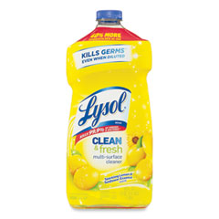 LYSOL® Brand Clean and Fresh Multi-Surface Cleaner, Sparkling Lemon and Sunflower Essence, 40 oz Bottle, 9/Carton