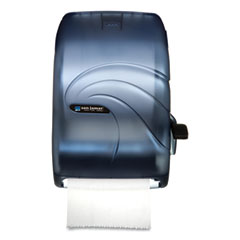 San Jamar® Lever Roll Towel Dispenser, Oceans, 12.94 x 9.25 x 16.5, Arctic Blue