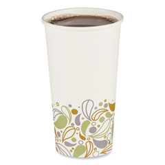 Boardwalk® Convenience Pack Paper Hot Cups, 20 oz, Deerfield Print, 9 Cups/Sleeve, 15 Sleeves/Carton