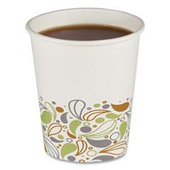 Boardwalk® Convenience Pack Paper Hot Cups, 8 oz, Deerfield Print, 9 Cups/Sleeve, 34 Sleeves/Carton