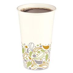 Boardwalk® Convenience Pack Paper Hot Cups, 16 oz, Deerfield Print, 9 Cups/Sleeve, 20 Sleeves/Carton