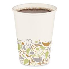 Boardwalk® Convenience Pack Paper Hot Cups, 12 oz, Deerfield Print, 9 Cups/Sleeve, 25 Sleeves/Carton