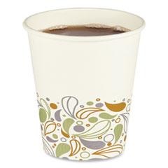 Boardwalk® Convenience Pack Paper Hot Cups, 10 oz, Deerfield Print, 9 Cups/Sleeve, 29 Sleeves/Carton