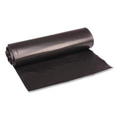 "Boardwalk® Low Density Repro Can Liners, 33 gal, 1.2 mil, 33"" x 39"", Black, 10 Bags/Roll, 10 Rolls/Carton"
