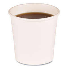 Boardwalk® Paper Hot Cups, 4 oz, White, 20 Cups/Sleeve, 50 Sleeves/Carton