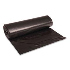 "Boardwalk® Low Density Repro Can Liners, 45 gal, 1.6 mil, 40"" x 46"", Black, 100/Carton"