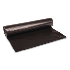 "Boardwalk® Low Density Repro Can Liners, 45 gal, 1 mil, 40"" x 48"", Black, 10 Bags/Roll, 10 Rolls/Carton"