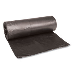 "Boardwalk® Low-Density Waste Can Liners, 60 gal, 0.65 mil, 38"" x 58"", Black, 100/Carton"