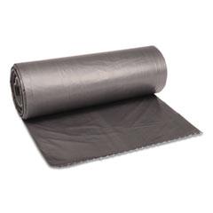 "Boardwalk® Low-Density Waste Can Liners, 60 gal, 1.1 mil, 38"" x 58"", Gray, 100/Carton"