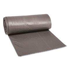 "Boardwalk® Low-Density Waste Can Liners, 33 gal, 1.1 mil, 33"" x 39"", Gray, 100/Carton"