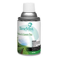 TimeMist® Premium Metered Air Freshener Refill, Bamboo and Green Tea 6.6 oz Aerosol Spray, 12/Carton