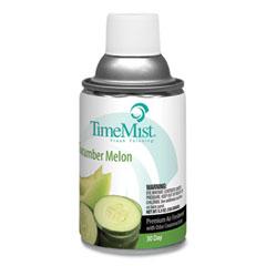 TimeMist® Premium Metered Air Freshener Refill, Cucumber Melon, 5.3 oz Aerosol Spray, 12/Carton