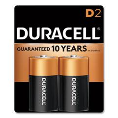 Duracell® CopperTop Alkaline D Batteries, 2/Pack