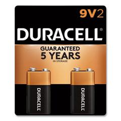 Duracell® CopperTop Alkaline 9V Batteries, 2/Pack