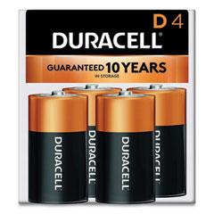 Duracell® CopperTop Alkaline D Batteries, 4/Pack