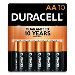 Duracell® CopperTop Alkaline AA Batteries, 10/Pack