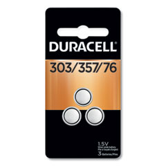 Duracell® Button Cell Battery, 303/357, 1.5 V, 3/Pack