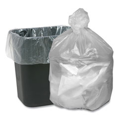 """Ultra Plus® Can Liners, 7-10 gal, 0.31 mil, 24"""" x 24"""", Natural, 25 Bags/Roll, 20 Rolls/Carton"""