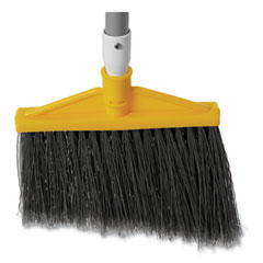 """Rubbermaid® Commercial Angled Large Broom, 48.78"""" Handle, Silver/Gray"""