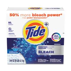 Tide® Laundry Detergent with Bleach, Tide Original Scent, Powder, 144 oz Box, 2/Carton
