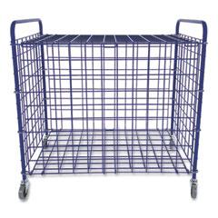 Champion Sports Lockable Ball Storage Cart, 24-Ball Capacity, 37w x 22d x 20h, Blue