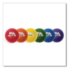 "Champion Sports Rhino Skin Dodge Ball Set, 6"" Diameter, Assorted Colors, 6/Set"