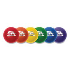 "Champion Sports Rhino Skin Dodge Ball Set, 8"" Diameter, Assorted Colors, 6/Set"