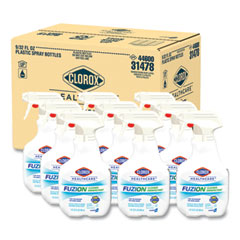 Clorox® Healthcare® Fuzion Cleaner Disinfectant, Unscented, 32 oz Spray Bottle, 9/Carton