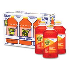 Pine-Sol® All-Purpose Cleaner, Orange Energy, 144 oz Bottle, 3/Carton