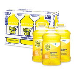 Pine-Sol® All Purpose Cleaner, Lemon Fresh, 144 oz Bottle, 3/Carton