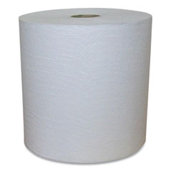 Eco Green® Recycled Hardwound Paper Towels, 1-Ply, 1.8 Core, 7.88 x 800 ft, White, 6 Rolls/Carton