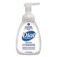 Dial® Professional Antibacterial Foaming Hand Wash, Healthcare, 7.5 oz Pump, 12/Carton