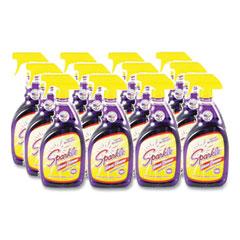 Sparkle Glass Cleaner, 33.8 oz Spray Bottle, 12/Carton