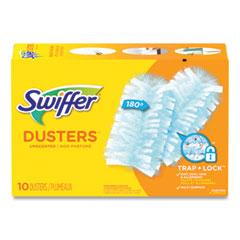 Swiffer® Refill Dusters, Dust Lock Fiber, Light Blue, Unscented, 10/Box, 4 Box/Carton