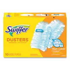 Swiffer® Dusters Refill, Dust Lock Fiber, Unscented, Light Blue, 10/Box