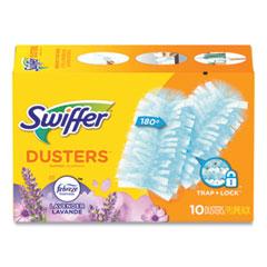 Swiffer® Refill Dusters, DustLock Fiber, Light Blue, Lavender Vanilla Scent,10/Box,4 Boxes/Carton