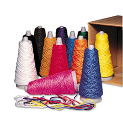 Trait-Tex Double Weight Yarn Cones, 2 oz, Assorted Colors, 12/Box