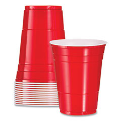 Dart® Solo Plastic Party Cold Cups, 16 oz, Red, 50/Pack