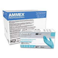 AMMEX® Professional Nitrile Exam Gloves, Powder-Free, 3 mil, Medium, Blue, 100/Box