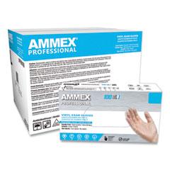 AMMEX® Professional Vinyl Exam Gloves, Powder-Free, Large, Clear, 100/Box