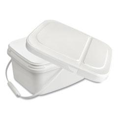 Diversey™ Polypropylene Dry Wipe Charging Bucket, 24 x 14 x 14, White, 12/Box